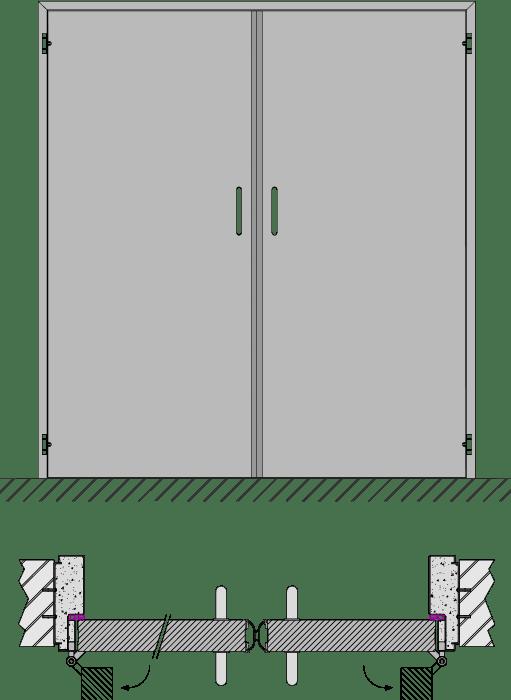 double porte sans priorit produits heinen. Black Bedroom Furniture Sets. Home Design Ideas