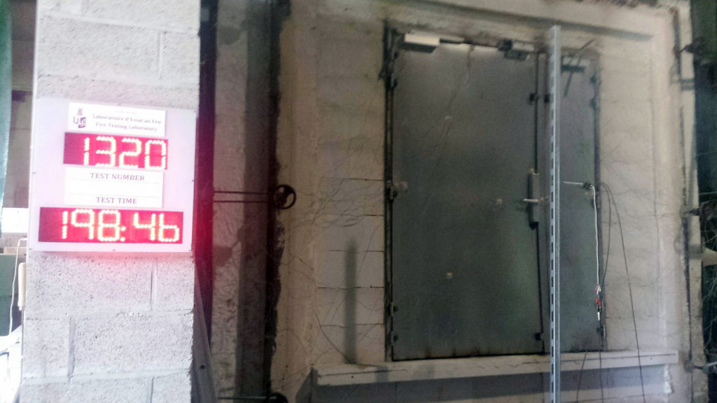 Test brandwerende deur Heinen180 min.